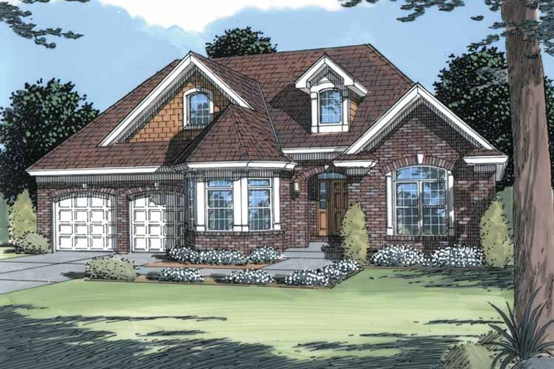 Country Exterior - Front Elevation Plan #46-725