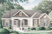 Dream House Plan - Cottage Exterior - Front Elevation Plan #34-110