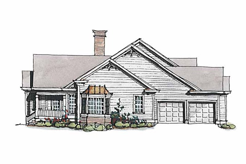 Ranch Exterior - Other Elevation Plan #429-172 - Houseplans.com