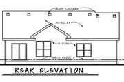 Ranch Style House Plan - 3 Beds 2 Baths 1973 Sq/Ft Plan #20-2270 Exterior - Rear Elevation