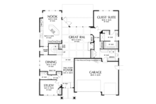 Craftsman Floor Plan - Main Floor Plan Plan #48-905