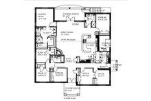 Ranch Floor Plan - Main Floor Plan Plan #117-868