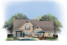 House Plan Design - European Exterior - Rear Elevation Plan #929-907