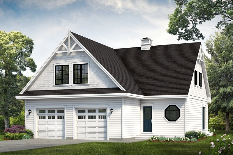 House Blueprint - Country Exterior - Front Elevation Plan #47-1090