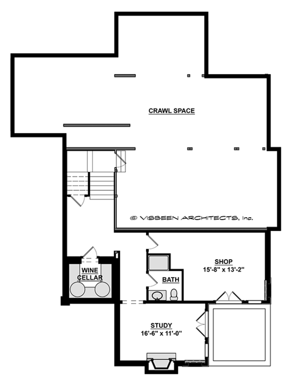 Craftsman Floor Plan - Lower Floor Plan Plan #928-280