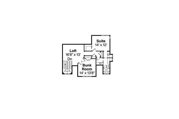 Home Plan - Craftsman style house plan, upper level floor plan