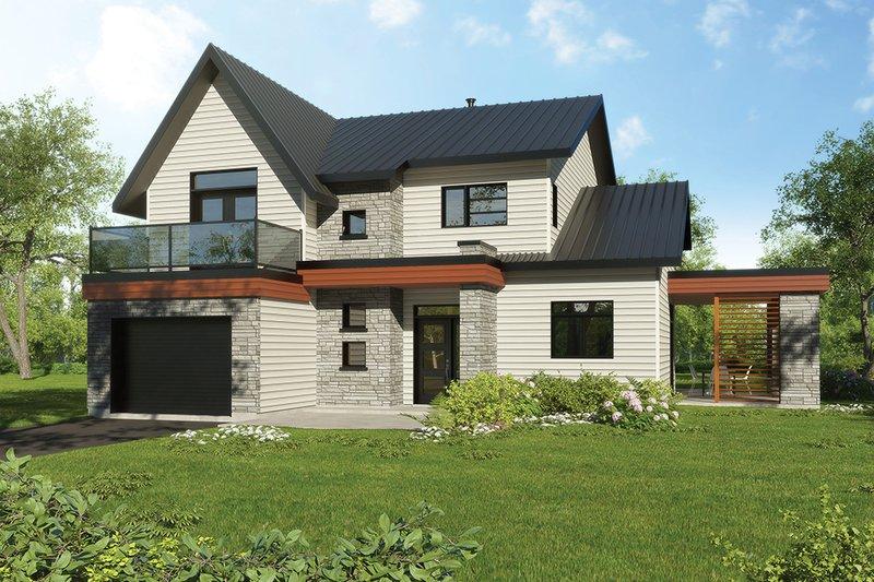 House Plan Design - Modern Exterior - Front Elevation Plan #23-2308