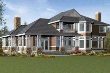 Craftsman Exterior - Rear Elevation Plan #132-233