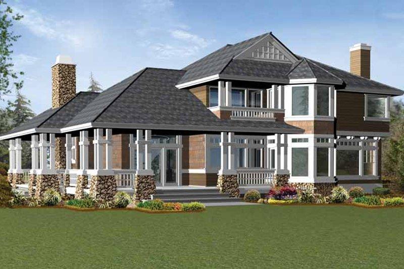 Craftsman Exterior - Rear Elevation Plan #132-233 - Houseplans.com