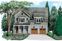 Country Exterior - Front Elevation Plan #927-541