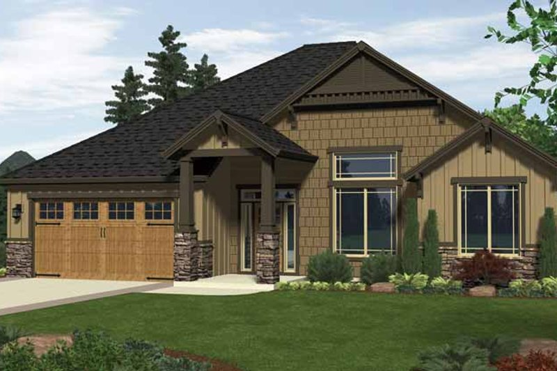 Architectural House Design - Craftsman Exterior - Front Elevation Plan #943-9