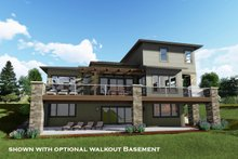 Architectural House Design - Modern Exterior - Rear Elevation Plan #1069-9