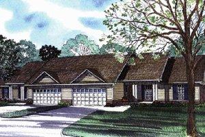 Home Plan Design - Ranch Exterior - Front Elevation Plan #17-3070