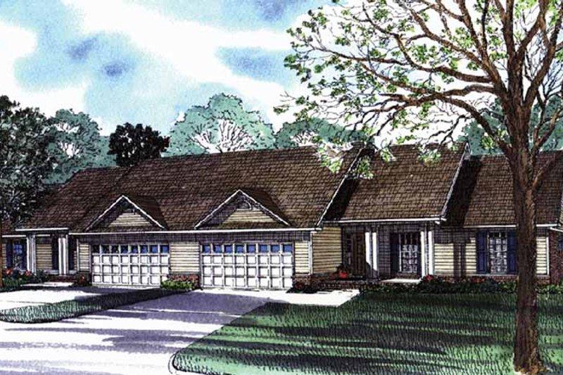 Ranch Exterior - Front Elevation Plan #17-3070 - Houseplans.com