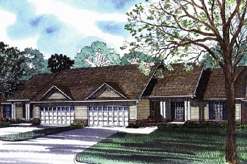 Dream House Plan - Ranch Exterior - Front Elevation Plan #17-3070