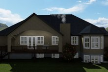 Dream House Plan - Traditional Exterior - Rear Elevation Plan #1060-61
