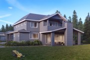Traditional Style House Plan - 5 Beds 4.5 Baths 4161 Sq/Ft Plan #1066-19 Exterior - Rear Elevation