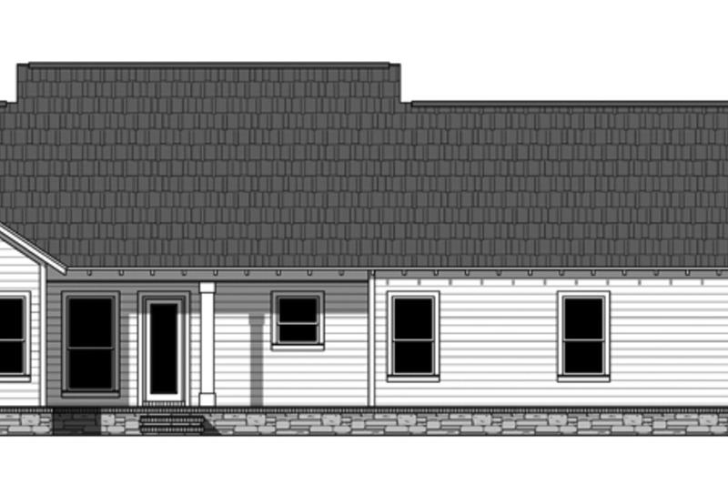 Ranch Exterior - Rear Elevation Plan #21-428 - Houseplans.com