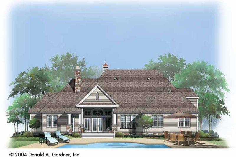 Craftsman Exterior - Rear Elevation Plan #929-741 - Houseplans.com