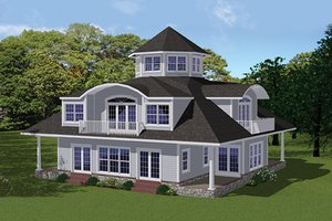 Dream House Plan - Contemporary Exterior - Front Elevation Plan #1061-7