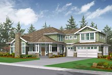 House Design - Craftsman Exterior - Front Elevation Plan #132-450