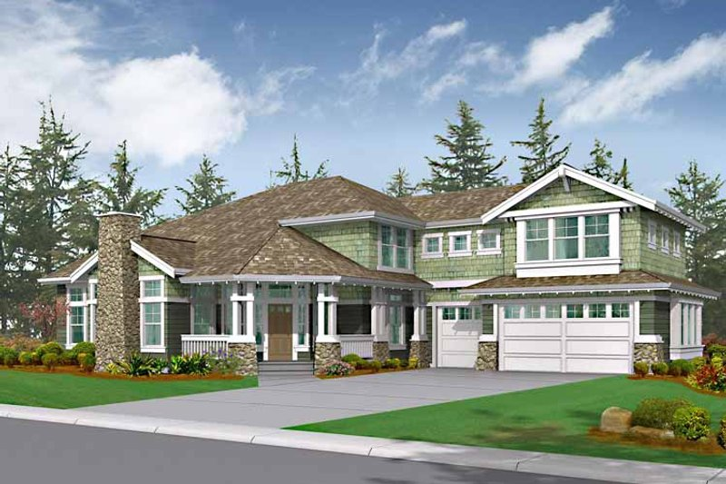 Dream House Plan - Craftsman Exterior - Front Elevation Plan #132-450