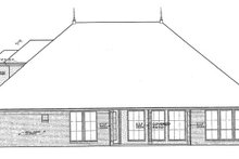 Architectural House Design - European Exterior - Rear Elevation Plan #310-1263