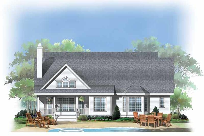Traditional Exterior - Rear Elevation Plan #929-882 - Houseplans.com