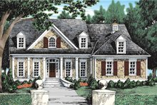 Country Exterior - Front Elevation Plan #927-934