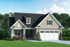 Cottage Exterior - Front Elevation Plan #929-1126