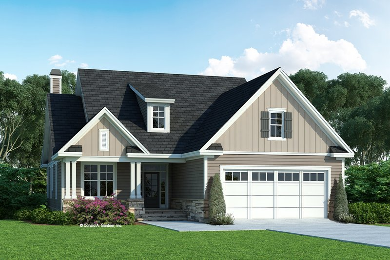 House Plan Design - Cottage Exterior - Front Elevation Plan #929-1126