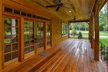Country Exterior - Covered Porch Plan #137-280