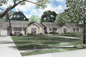 Ranch Exterior - Front Elevation Plan #17-590