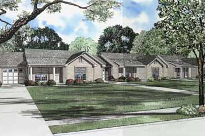 Ranch Style House Plan - 3 Beds 1.5 Baths 3225 Sq/Ft Plan #17-590 Exterior - Front Elevation