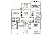 Colonial Style House Plan - 4 Beds 4.5 Baths 4298 Sq/Ft Plan #137-101 Floor Plan - Main Floor Plan