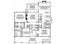 Colonial Floor Plan - Main Floor Plan Plan #137-101