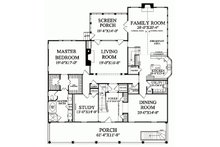 Colonial Floor Plan - Main Floor Plan Plan #137-101