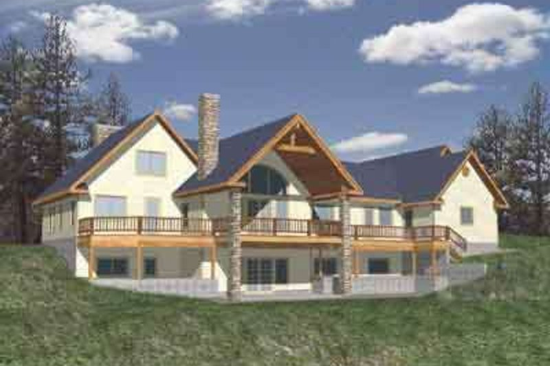 Modern Exterior - Front Elevation Plan #117-277 - Houseplans.com