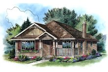 Dream House Plan - Traditional Exterior - Front Elevation Plan #18-1040