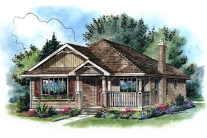 Traditional Exterior - Front Elevation Plan #18-1040
