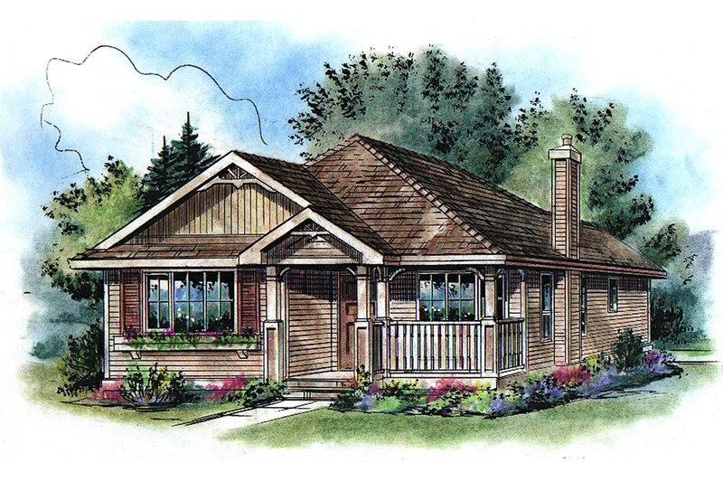 Home Plan - Traditional Exterior - Front Elevation Plan #18-1040