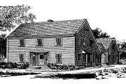 Colonial Style House Plan - 4 Beds 3.5 Baths 2270 Sq/Ft Plan #315-109 Exterior - Other Elevation
