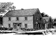 Dream House Plan - Colonial Exterior - Other Elevation Plan #315-109