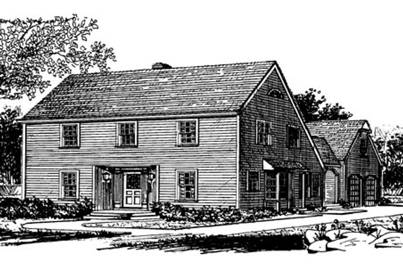 Colonial Exterior - Other Elevation Plan #315-109 - Houseplans.com