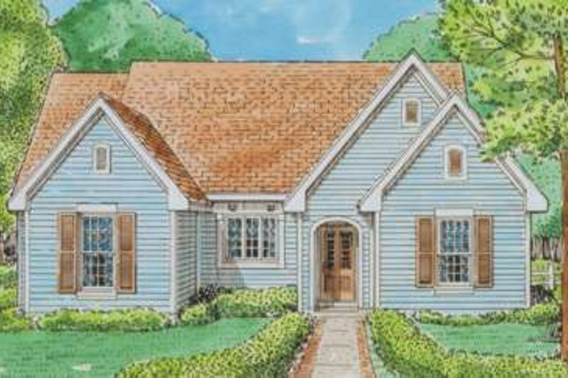 Country Exterior - Front Elevation Plan #410-344