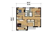 Contemporary Style House Plan - 3 Beds 1 Baths 1552 Sq/Ft Plan #25-4278 Floor Plan - Upper Floor