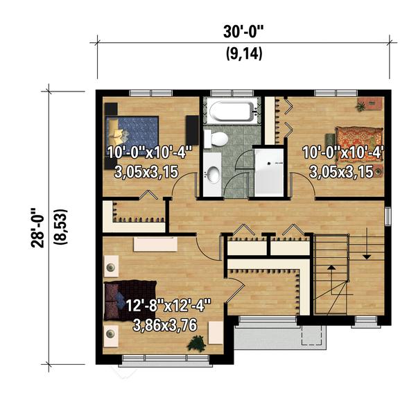Contemporary Floor Plan - Upper Floor Plan #25-4278