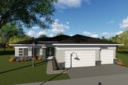 Ranch Style House Plan - 3 Beds 2.5 Baths 2264 Sq/Ft Plan #70-1423 Exterior - Front Elevation