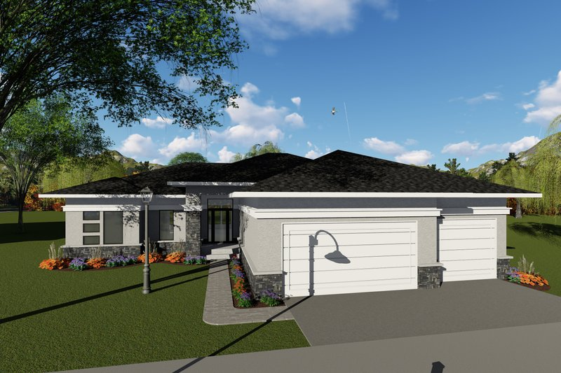 Architectural House Design - Ranch Exterior - Front Elevation Plan #70-1423