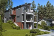 Contemporary Style House Plan - 6 Beds 6 Baths 3878 Sq/Ft Plan #1066-71 Exterior - Other Elevation